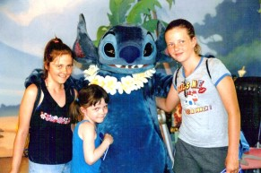 Me, Erica, Karli, and Stitch